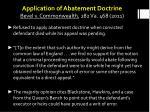 application of abatement doctrine bevel v commonwealth 282 va 468 2011