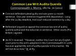 common law writ audita querela commonwealth v morris 281 va 70 2011