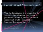constitutional common law