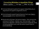 correcting mistakes in appellate filings whitt v comm va app mar 26 2013