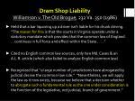 dram shop liability williamson v the old brogue 232 va 350 1986
