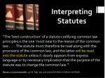 interpreting statutes1