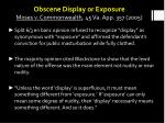 obscene display or exposure moses v commonwealth 45 va app 357 2005