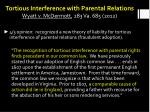 tortious interference with parental relations wyatt v mcdermott 283 va 685 2012