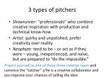 3 types of pitchers