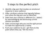 5 steps to the perfect pitch