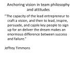 anchoring vision in team philosophy and attitudes1