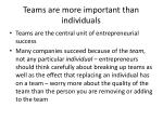 teams are more important than individuals