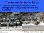 the answer is storm surge