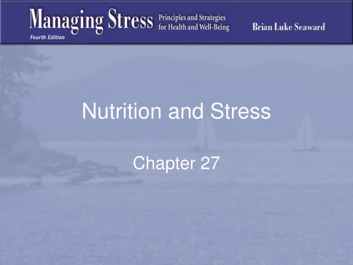 nutrition and stress n.