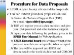 procedure for data proposals