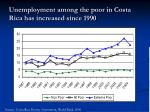 unemployment among the poor in costa rica has increased since 1990
