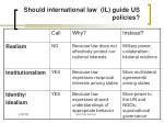should international law il guide us policies