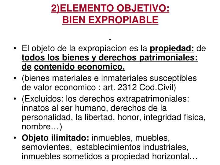 2)ELEMENTO OBJETIVO: