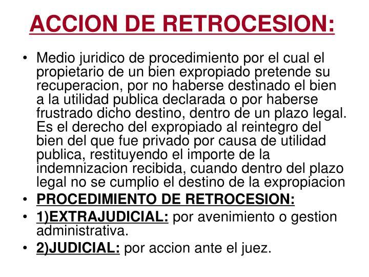 ACCION DE RETROCESION: