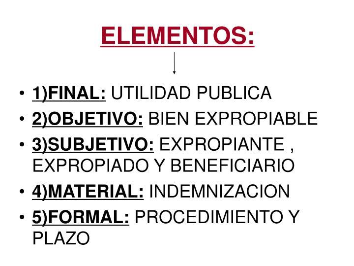 ELEMENTOS: