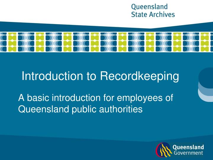 introduction to recordkeeping n.