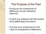 the purpose of the post