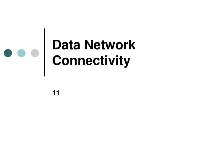 data network connectivity n.