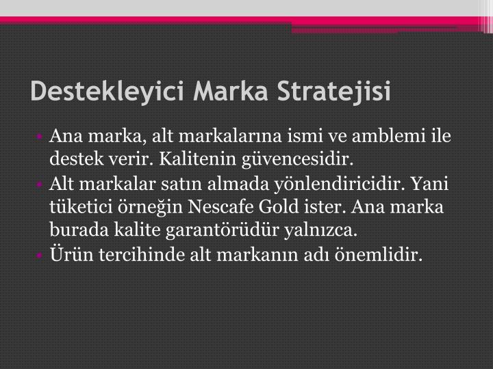 Destekleyici Marka Stratejisi