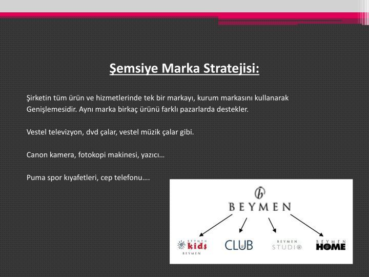Şemsiye Marka Stratejisi:
