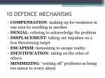 10 defence mechanisms