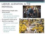 labour alienation the individual