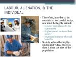 labour alienation the individual1