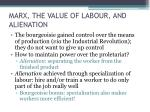 marx the value of labour and alienation2