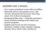 modern day canada
