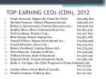 top earning ceos cdn 2012