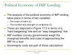 political economy of imf lending