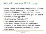 political economy of imf lending1