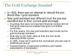 the gold exchange standard