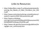 links to resources