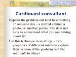 cardboard consultant