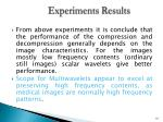 experiments results2