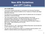 new apa guidelines and cpt coding