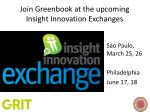 join greenbook at the upcoming insight innovation exchanges