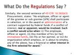 what do the regulations say1