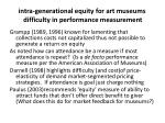 intra generational equity for art museums difficulty in performance measurement1