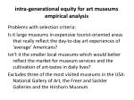 intra generational equity for art museums empirical analysis1