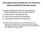 intra generational equity for art museums relevant political economy issues1