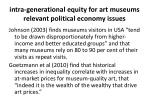 intra generational equity for art museums relevant political economy issues3