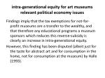 intra generational equity for art museums relevant political economy issues4