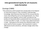 intra generational equity for art museums taste formation2