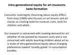 intra generational equity for art museums taste formation4