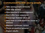 communicating with young people