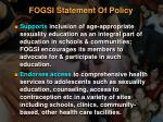 fogsi statement of policy