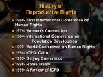 history of reproductive rights